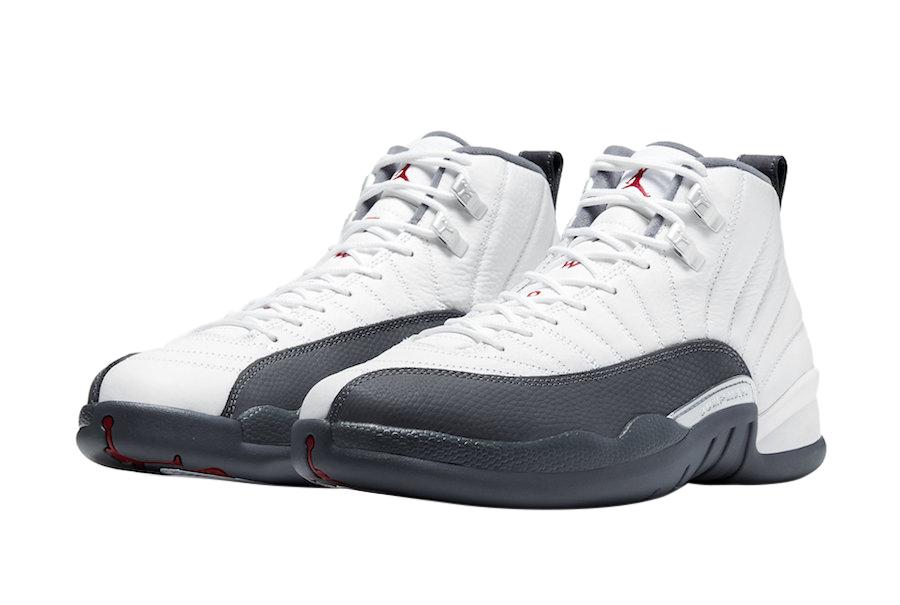 BUY Air Jordan 12 White Dark Grey