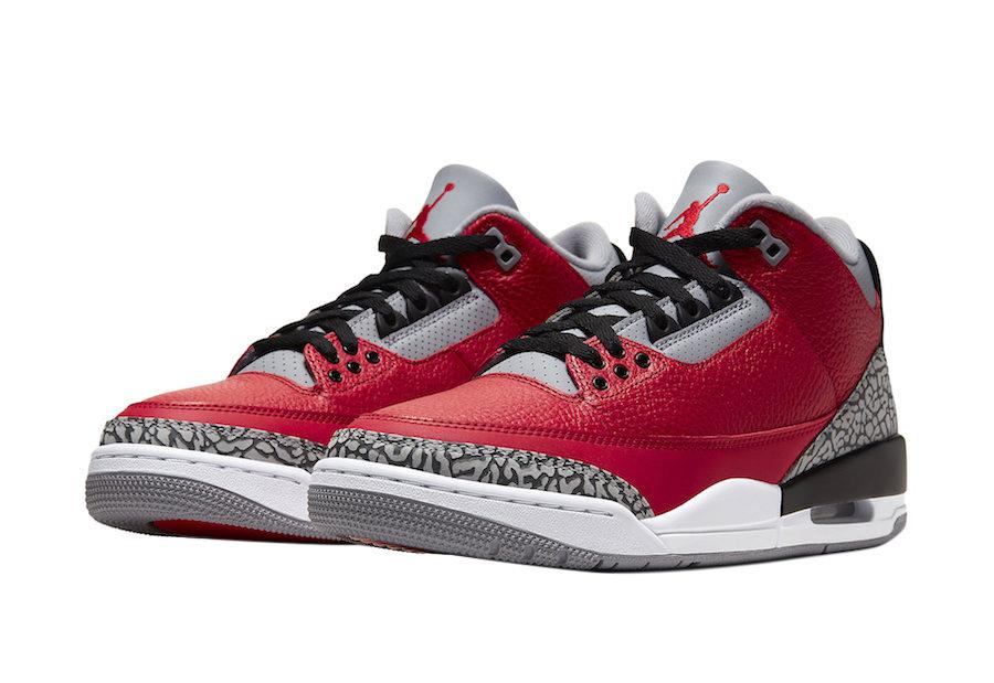 BUY Air Jordan 3 Red Cement NIKE CHI