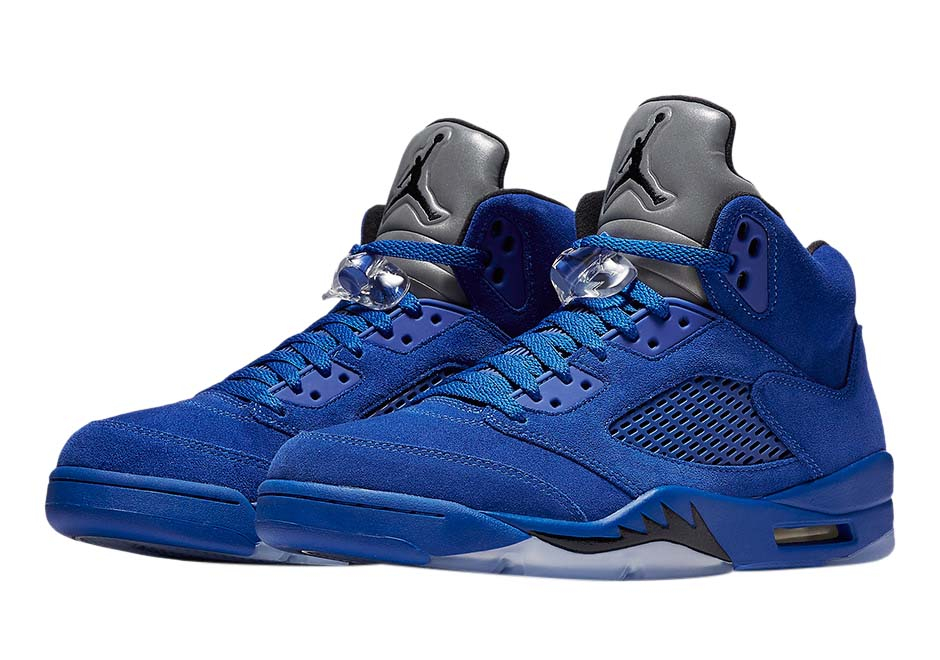 Air Jordan 5 Blue Suede - KicksOnFire