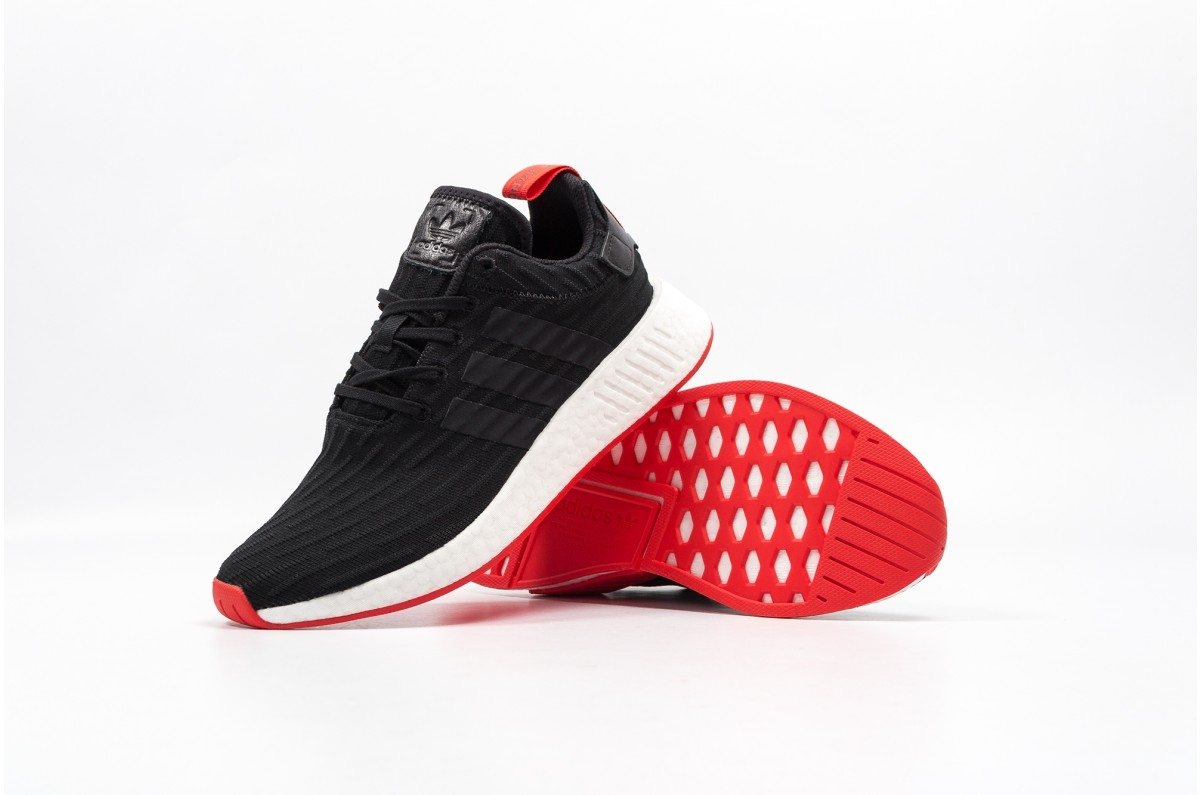 wholesale dealer e2aad c8198 Adidas Nmd R2 Core Black Red