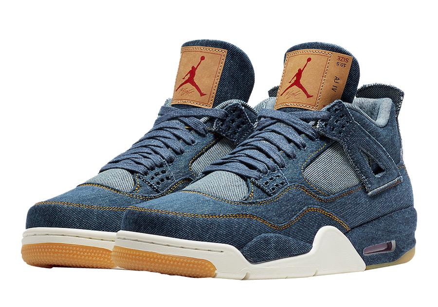 BUY Levi's X Air Jordan 4 Blue Denim
