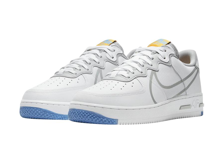 Nike Air Force 1 Low React White Light Smoke Grey