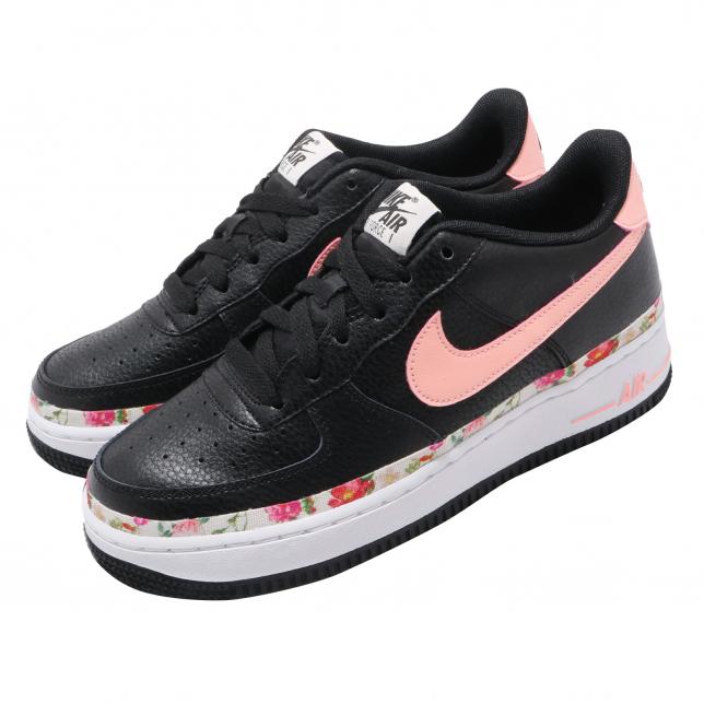 Nike Air Force 1 Vintage Floral Gs Black Pink Tint