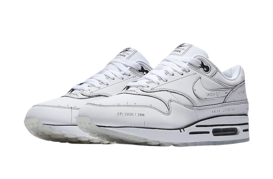 Nike Air Max 1 Sketch To Shelf White