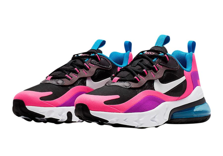 nike air max 270 pink white black