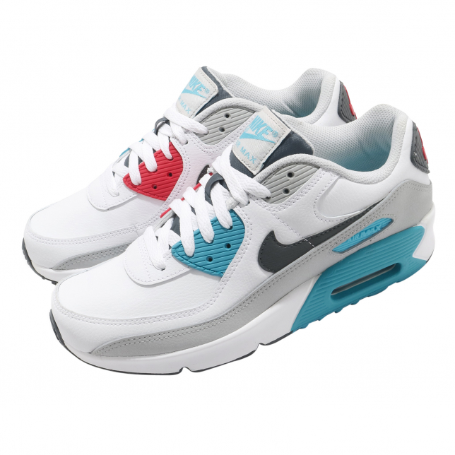 Nike Air Max 90 Ltr Gs White Iron Grey Chlorine Blue