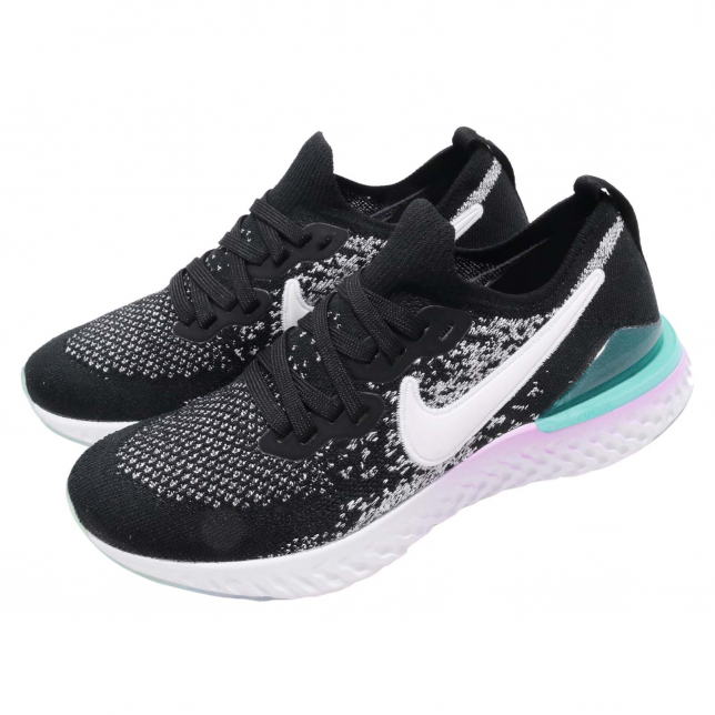 Nike Epic React Flyknit GS BUY Nike Epic React Flyknit 2 GS Black White | Kixify Marketplace