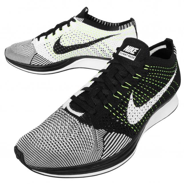 BUY Nike Flyknit Racer Black White Volt