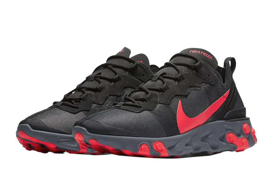 botón Exponer crear  BUY Nike React Element 55 Black Solar Red | Kixify Marketplace