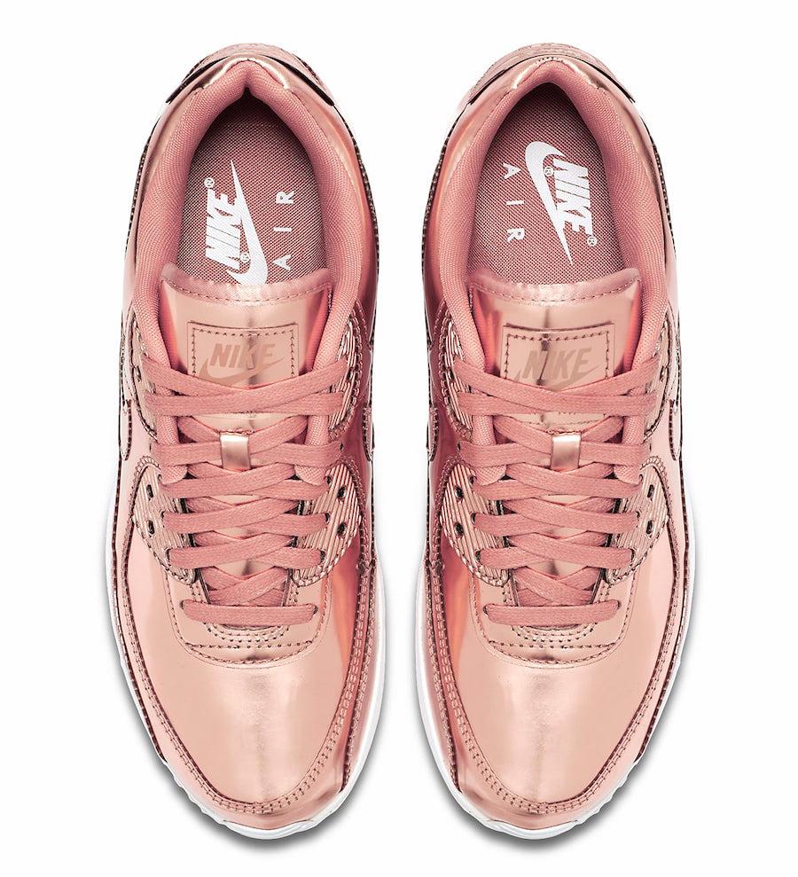 Nike WMNS Air Max 90 Metallic Rose Gold CQ6639-600 - KicksOnFire.com