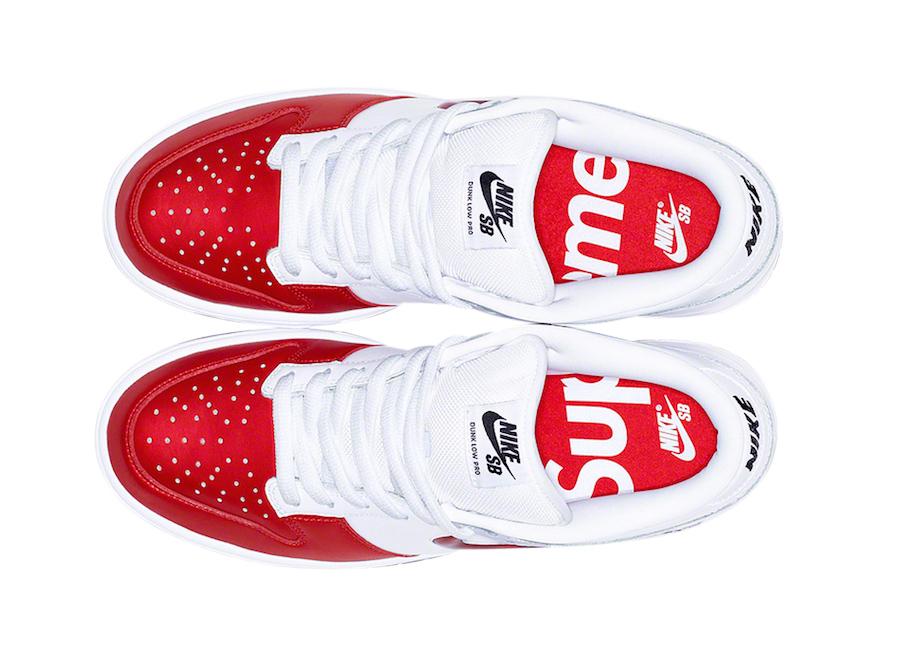 Supreme X Nike SB Dunk Low Varsity Red