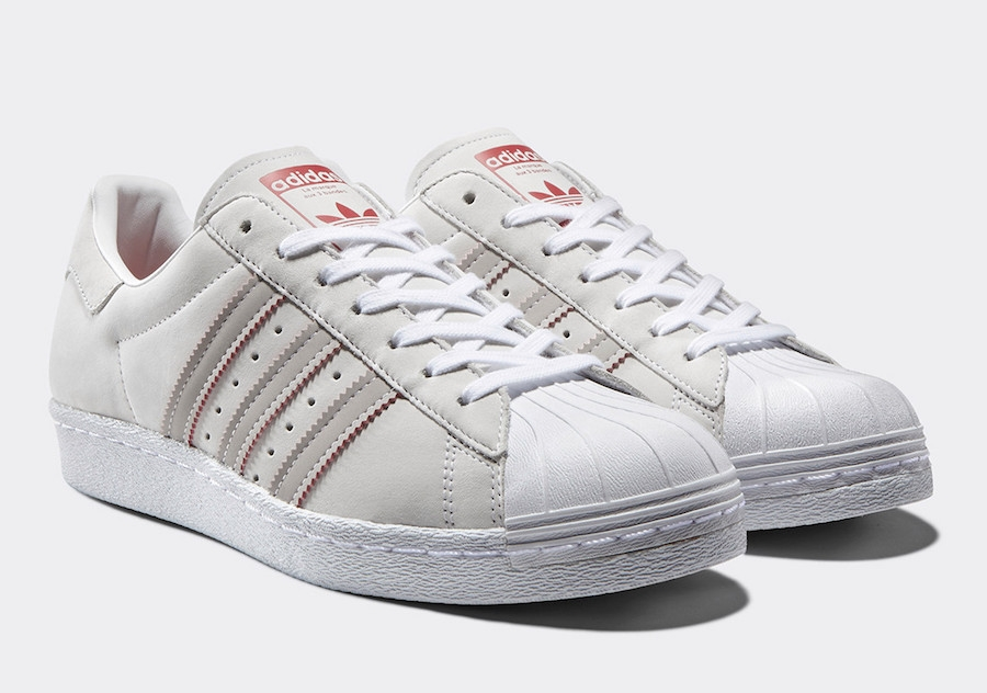 adidas Superstar 80s Shoes Red adidas UK
