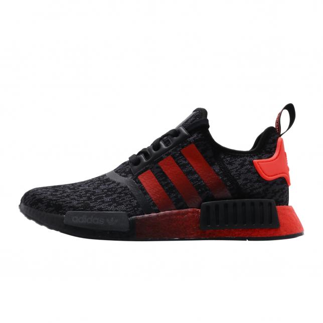 adidas NMD R1 Black Solar Red - KicksOnFire