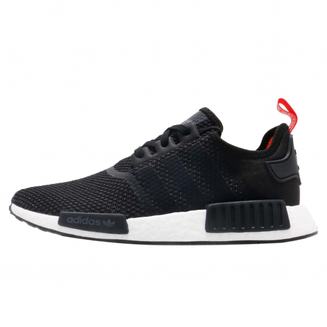 Adidas Nmd R1 Core Black Solar Orange Kicksonfire