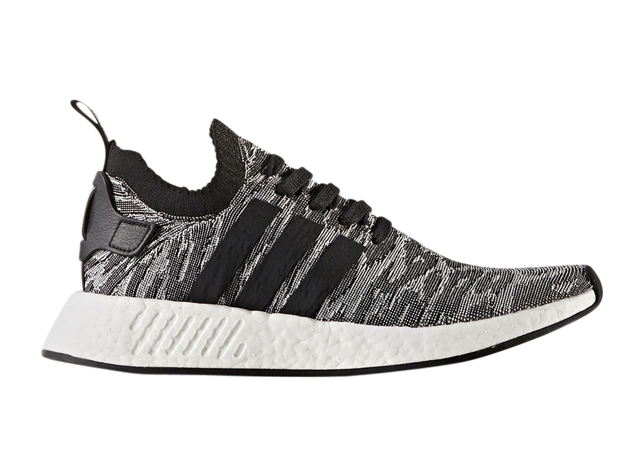 Adidas Nmd R2 Primeknit Black White Kicksonfire