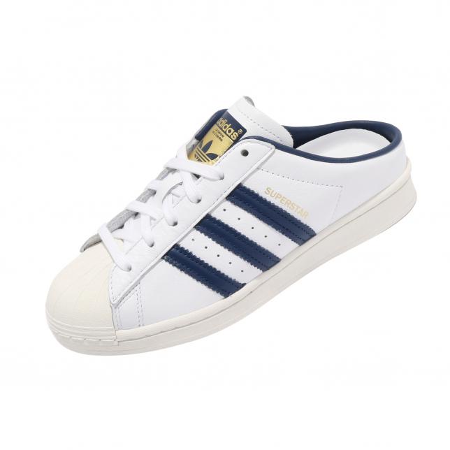 Adidas Superstar Mule Footwear White Navy Marine Gold Mint