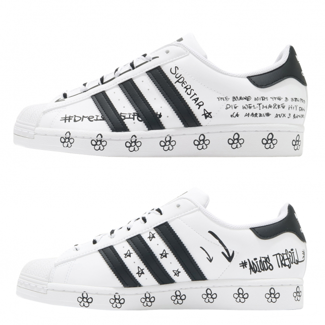 BUY Adidas WMNS Superstar Graffiti Footwear White Core Black ...