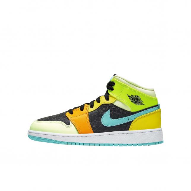 jordan 1 green and orange