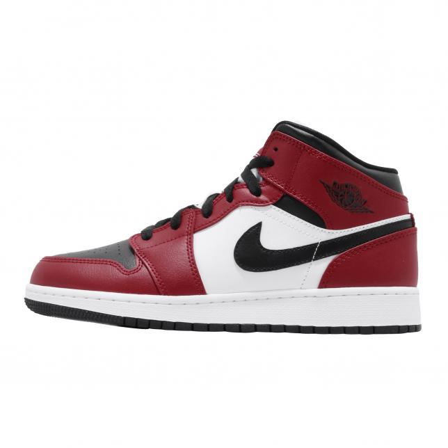 BUY Air Jordan 1 Mid GS Black Gym Red