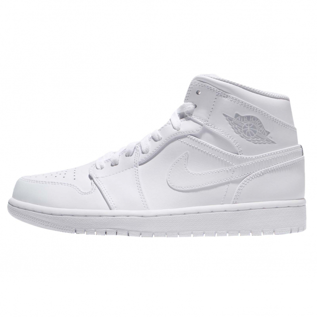 Air Jordan 1 Mid White Pure Platinum