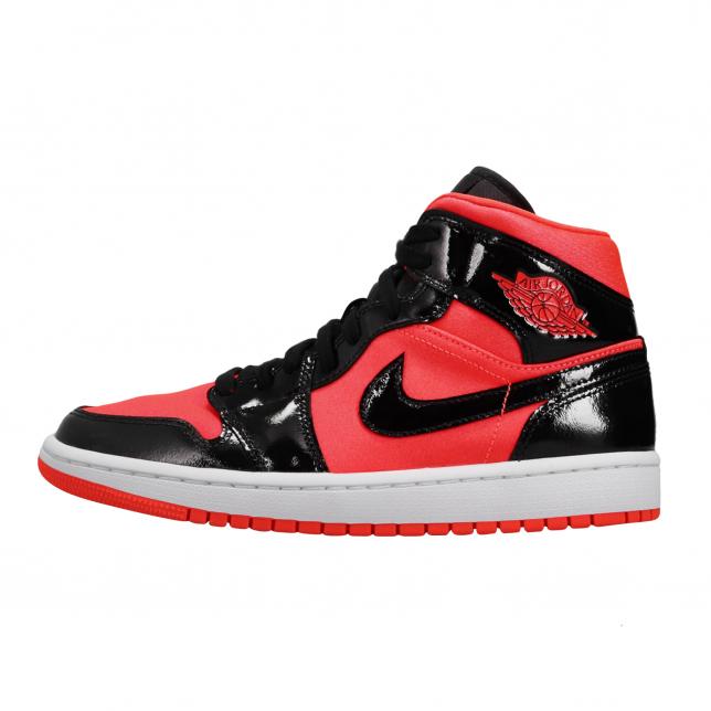 Air Jordan 1 Mid Wmns Bright Crimson Black