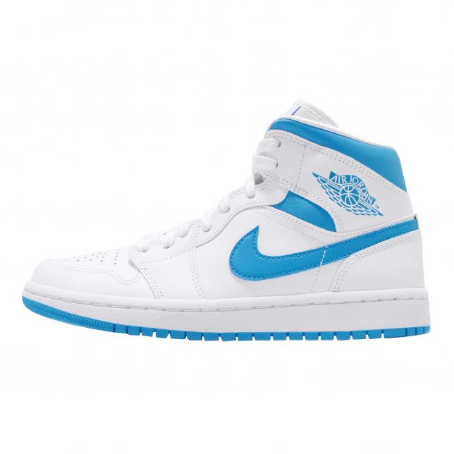 Air Jordan 1 Mid WMNS White Powder Blue