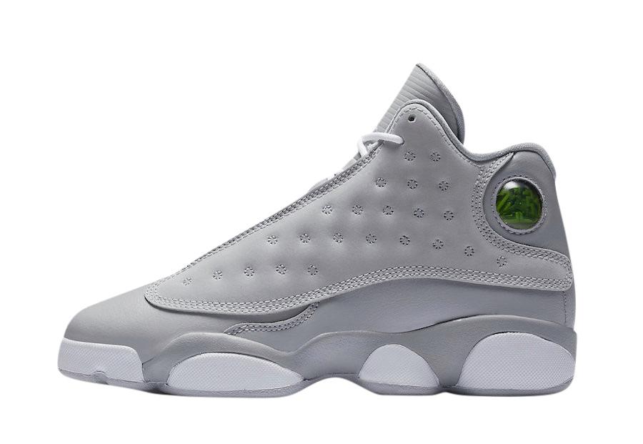 air jordan 13 grey and white