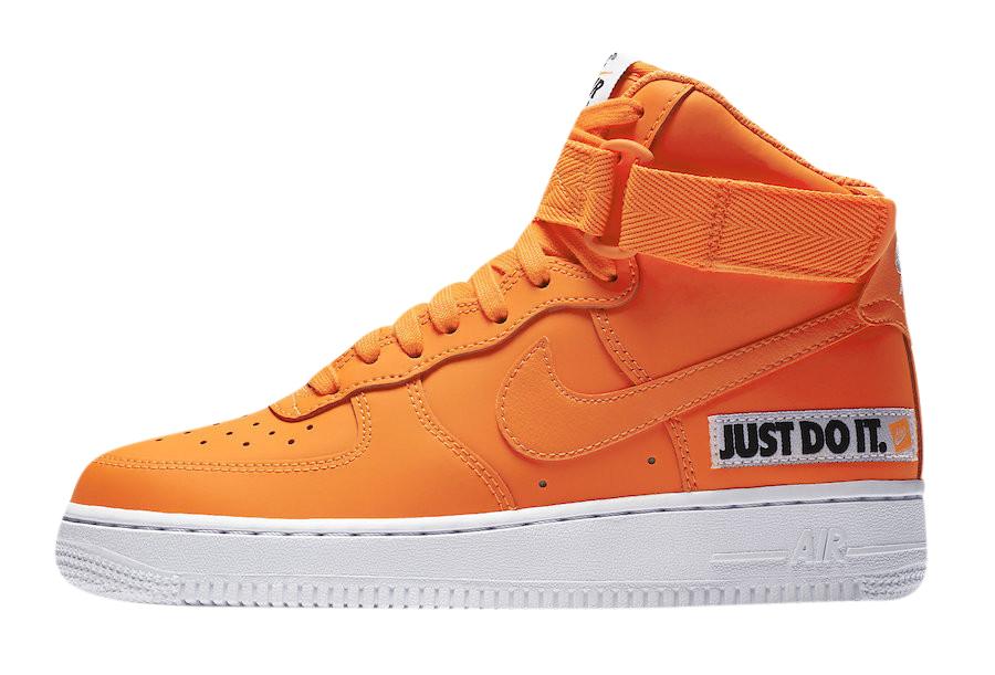 Nike Air Force 1 High Just Do It Total Orange BQ7925-800 ...