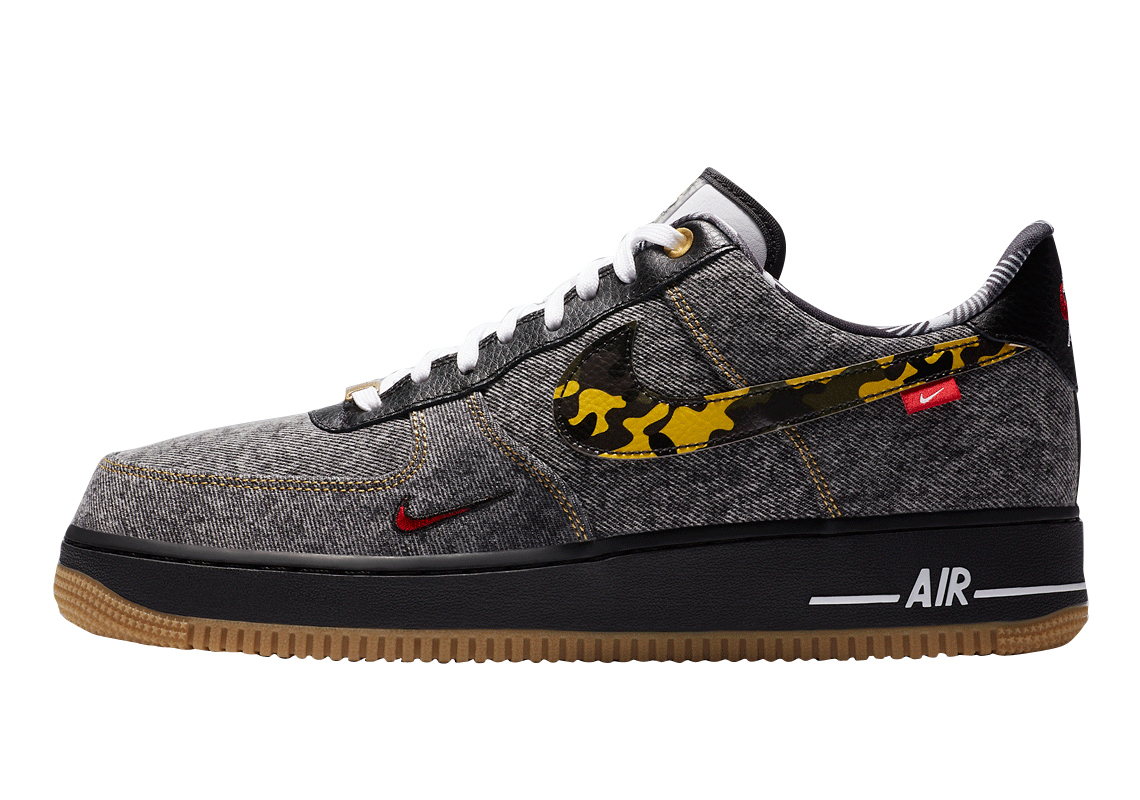 Consejo dentista ángulo  BUY Nike Air Force 1 Low Remix Black | Kixify Marketplace