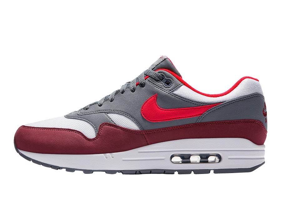 Nike Air Max 1 University Red Cool Grey