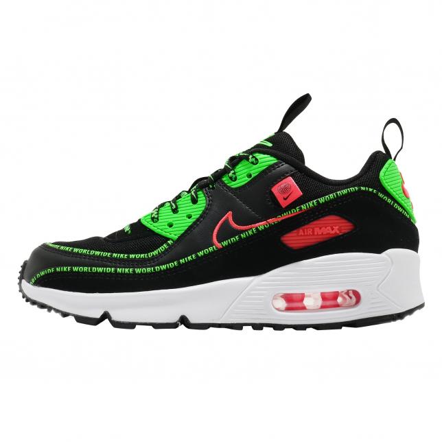 Nike Air Max 90 Gs Worldwide Black Flash Crimson