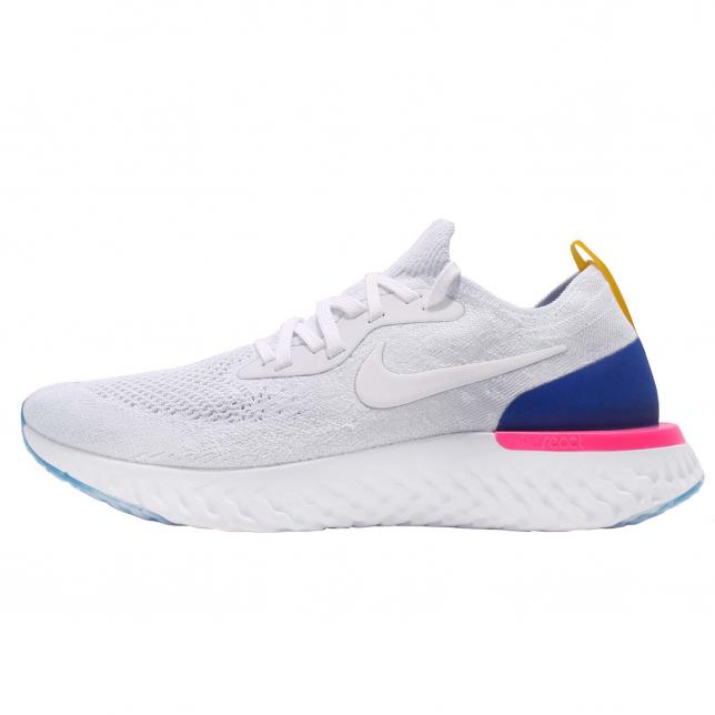 BUY Nike Epic React Flyknit White Racer
