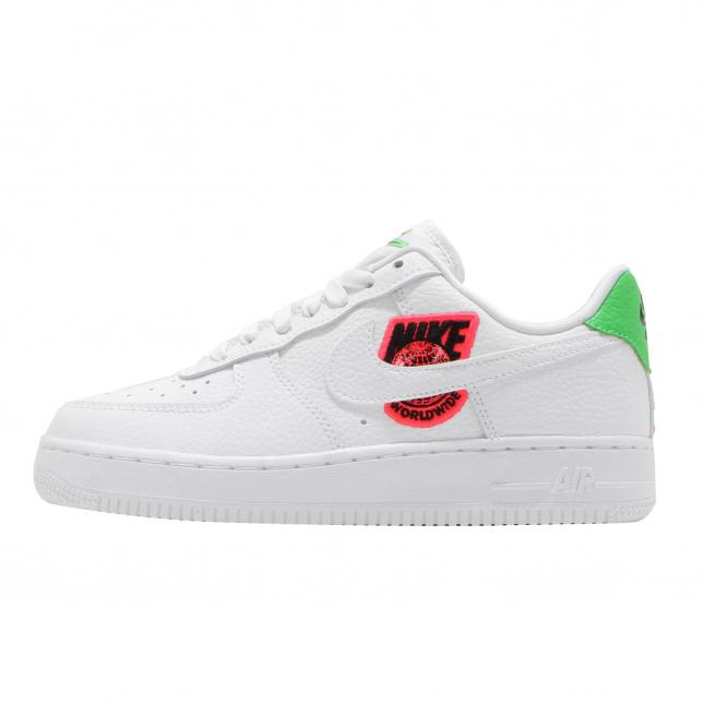 Nike Wmns Air Force 1 Low Worldwide White Flash Crimson