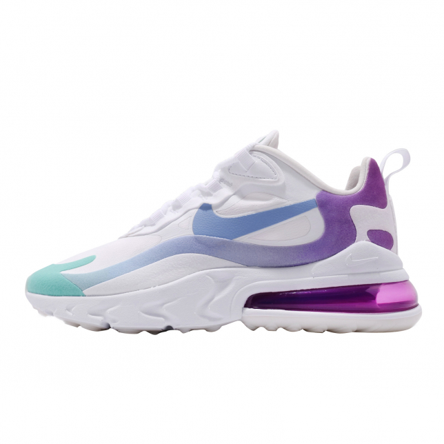 Nike Wmns Air Max 270 React White Light Blue Aurora Green