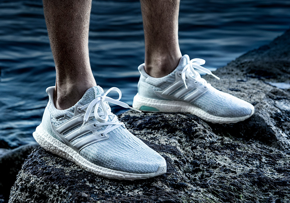 adidas ultra boost parley white blue
