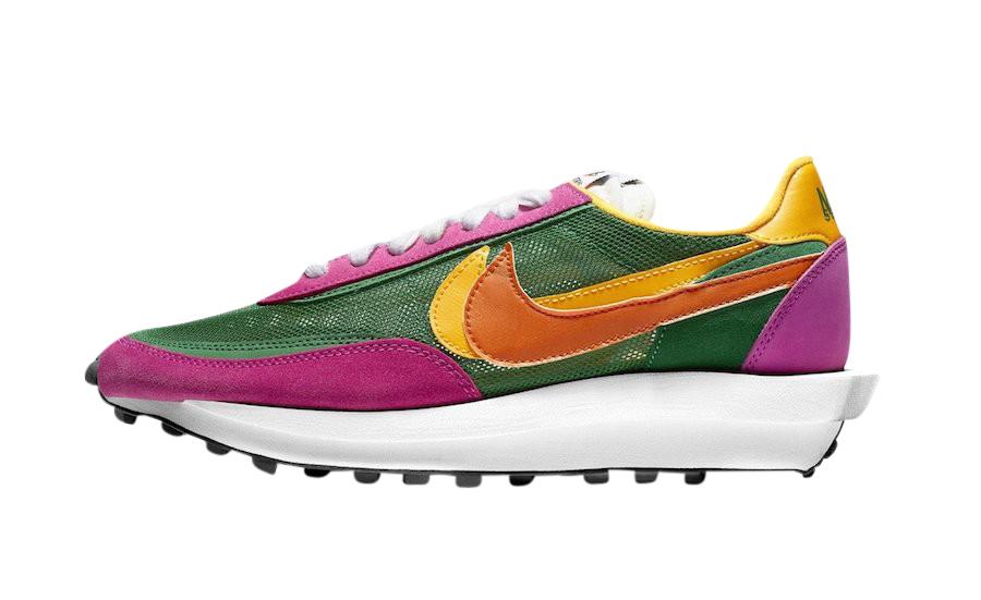 BUY Sacai X Nike LDWaffle Pine Green