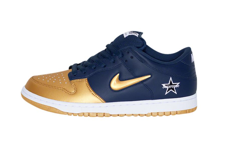 BUY Supreme X Nike SB Dunk Low Metallic
